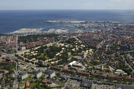 City of Aarhus, with campus and harbor view